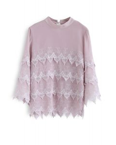 Get A Little Brighter Smock Top in Pink