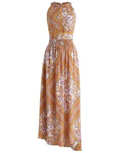 The Ultimate Boho Chic Open Back Maxi Dress