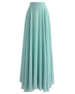 Timeless Favorite Chiffon Maxi Skirt in Mint