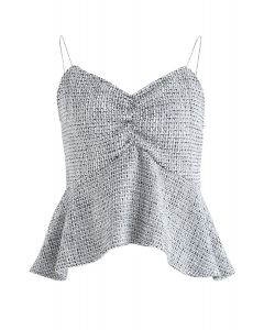Born to Sparkle Cami Top in Grey