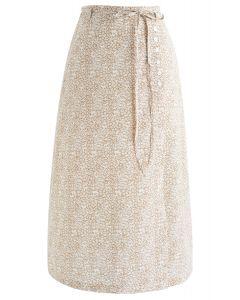 Delight in Love Chiffon Midi Skirt in Mustard