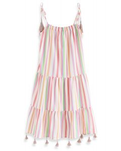 Rainbow Candies Stripes Maxi Dress For Kids