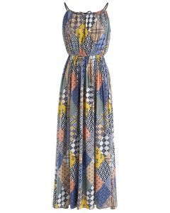 Boho Maze Halter Neck Maxi Dress