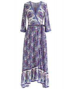 Paisley World Boho Wrap Maxi Dress