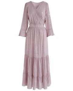 Glory of Love Star Printed Maxi Dress in Pink