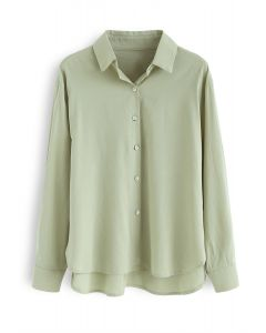 Shell Buttons Down Shirt in Green