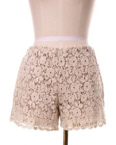 Beloved Lace Shorts in Ivory