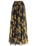 Swallows Print Maxi Skirt
