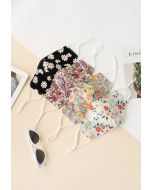 4 Packs Floral Print Face Coverings