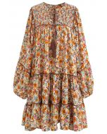 Puff Sleeve Ditsy Floral Dolly Dress